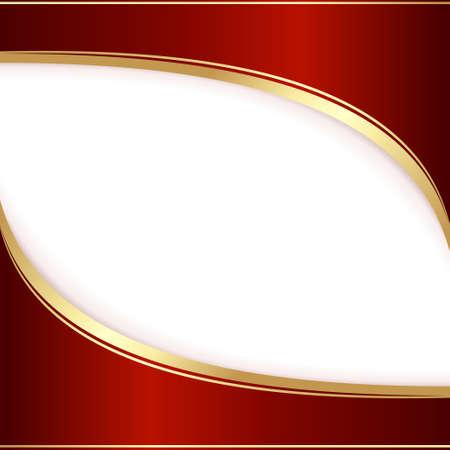 gold letters: Plantilla para una invitaci�n, de color rojo oscuro y oro. Uso mundial de colores, degradados lineales, mezclas, m�scaras de recorte. Vectores