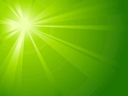light burst: Asymmetrische gr�nes Licht Burst mit dem Zentrum in der linken oberen Drittel.