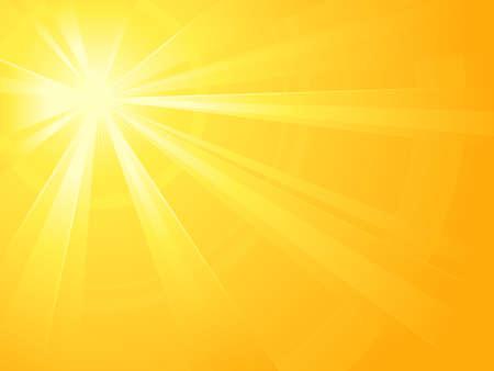 light burst: Asymmetrische gelb orange Licht Burst mit dem Zentrum in der linken oberen Drittel. Alle Strahlen von zwei linearen Gradienten. Radialer Farbverlauf f�r Hintergrund, Au�enring. Artwork gruppiert und layerd. Global Farben.