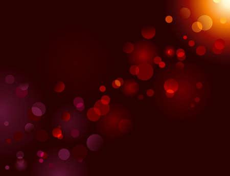 Magic brillo, la luz puntos sobre fondo negro con copia espacio. Efecto bokeh vector. El uso de mezclas, no hay gradientes radiales. Ilustración de vector