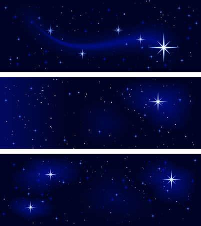 3 banderas con diferentes constelaciones de estrellas. Tranquilidad y silencio. El uso de 10 colores mundial, las mezclas. Foto de archivo - 5369134