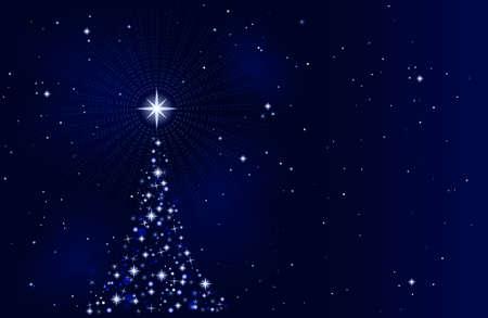 Resumen de antecedentes de Navidad con el árbol de Navidad, pacífico, tranquilo y silencioso. El uso de 10 colores mundial, las mezclas. Obra de agruparse y en capas.