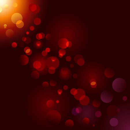 effets lumiere: �tincelle magique, points lumineux sur fond noir avec copie espace. Illustration