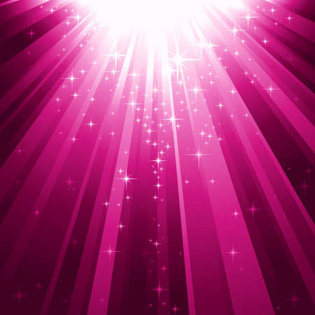 ray light:  Festive square abstract background with stars descending on rays of purple light. 7 global colors, background controlled by 1 linear gradient.