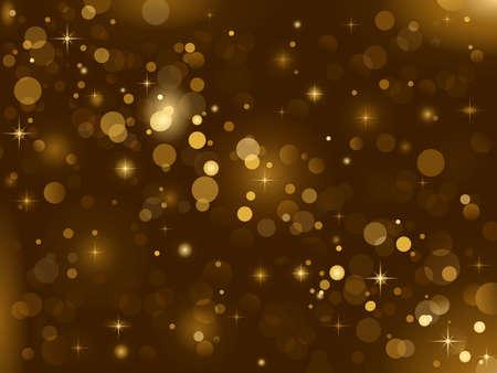 Magia sparkle, puntos de luz sobre un fondo oscuro con espacio de copia. Efecto de bokeh del vector. Uso de degradados radiales y lineales.
