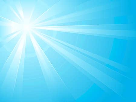 bursts: Luce asimmetrica burst terzo con il centro in alto a sinistra. Ideale per gli sfondi di inverno. Uso di gradienti radiali e lineari. Disegno raggruppati e sovrapposte. Colori globali.