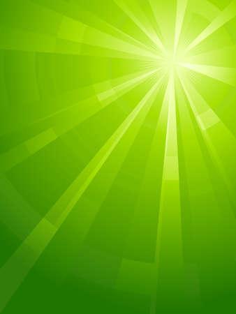 light burst: Asymmetrische gr�nes Licht burst mit dem Zentrum in der oberen rechten Dritter. Verwendung von radial und lineare Farbverl�ufe, globale Farben. Keine Folien. Bildmaterial, gruppiert und mit Ebenen.