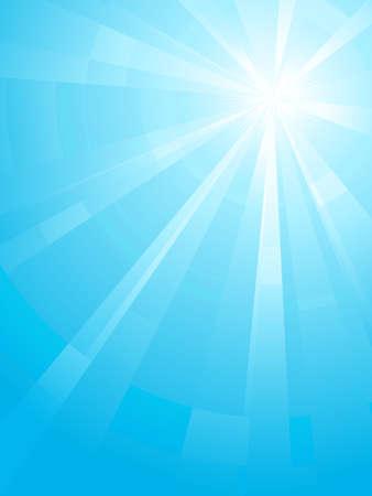 light burst: Asymmetrisches blaues Licht burst mit dem Zentrum in der oberen rechten Dritter. Verwendung von radial und lineare Farbverl�ufe, globale Farben. Keine Folien. Bildmaterial, gruppiert und mit Ebenen.