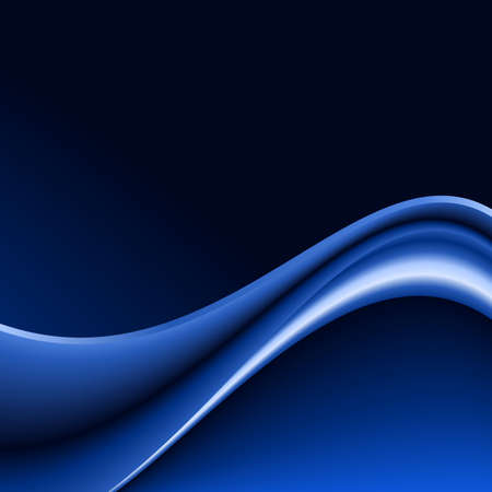 Abstract blue wave background. Futuristic abstract blue wave with space for your text. Use of blends, clipping masks, global colors. Illustration