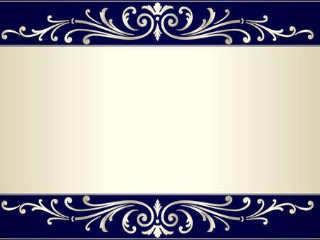 elegante: Elegante e raffinato vintage background with pergamene e lo spazio per il vostro testo. Uso di gradienti e campioni di colore globale. Opera raggruppati e stratificato.