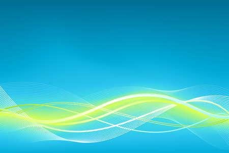 Green blue wave background.