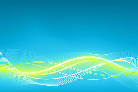 wavy: Green blue wave background.  Illustration