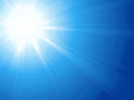sun flares: Abstract horizontal background, asymmetric light burst with the centre in the upper left third. Use of linear and radial gradients. Artwork grouped and layered. Global colors. Illustration