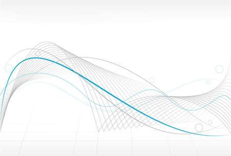 Fondo abstracto con curvas ondulados y círculos. Uso de muestras de color global, mezclas y degradados lineales.