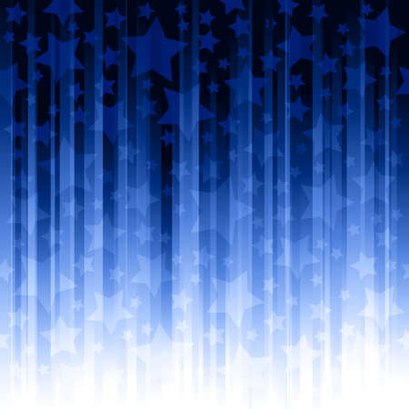 Abstract striped background with stars. Global   color swatches, linear gradients, no transparencies.