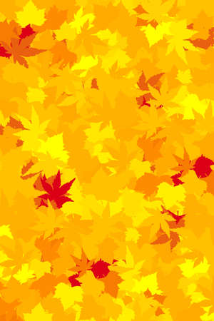 yellows: Maple and chestnut in saturated yellows, oranges, and reds forming a colorful autumn wallpaper.