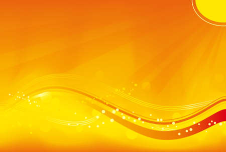 red sun: Abstract background with sun rays, wavy pattern and grunge elements in saturated orange, yellow and red. Great for autumn themes. No transparencies.