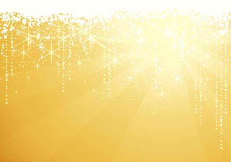 festive occasions: Fondo dorado con estrellas brillantes para ocasiones festivas. Grande como fondo de a�os de Navidad o nueva.