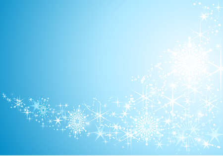 Abstract festive background with shiny stars and snow flakes. Stock Vector - 8192781