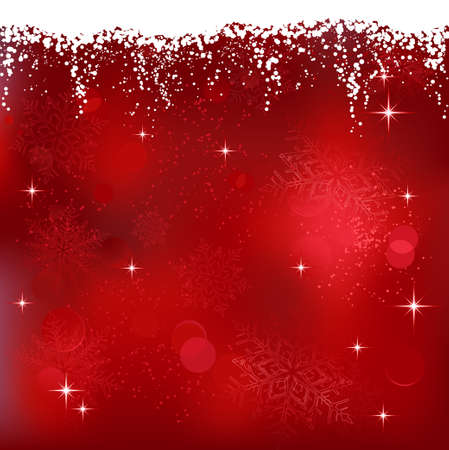 red christmas: Red abstract background with stars and snowflakes. Great for Christmas or winter themes.
