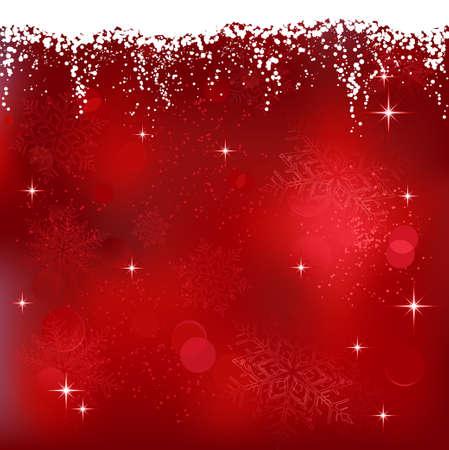 Red abstract Background with Stars und Schneeflocken. Ideal für Weihnachten oder Winter Themes.