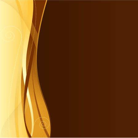 Goud bruin bedrijfs web sjabloon met kopie ruimte.  Vector Illustratie