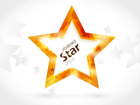 Golden shiny star shape background with space for your text. Stock Vector - 10771575