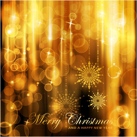 shining light: Cascadas de luces con luces defocused y destacados antecedentes para la tarjeta de Navidad.