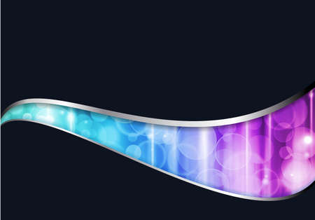 colorful lights: Wavy pattern with colorful lights in shades from blue to purple with space for your text on dark background.