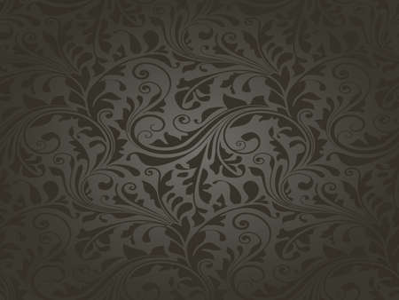 Repeating texture with floral elements for wallpaper, wrapping paper, decoration or underlying background. Illustration