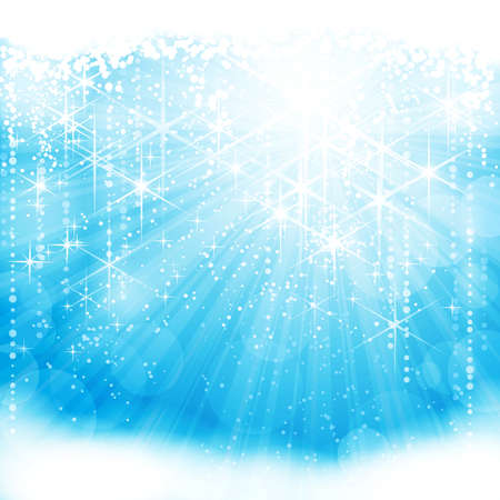Festive sparkling light blue background (eps10) Vector