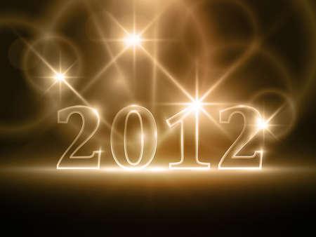 effetti di luce: Semitrasparente numero 2012 in astratto sfondo marrone scuro. Effetti di luce che danno una luce morbida.