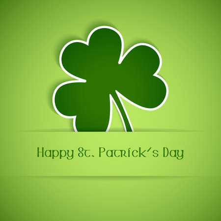 good luck: Shamrock, clover design, perfect for St  Patrick