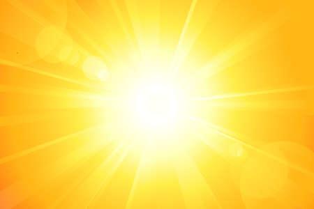 Fond d'été avec un magnifique soleil éclater avec lens flare. Pas de transparents, eps8 fichiers. Oeuvre d'art regroupés et superposés.