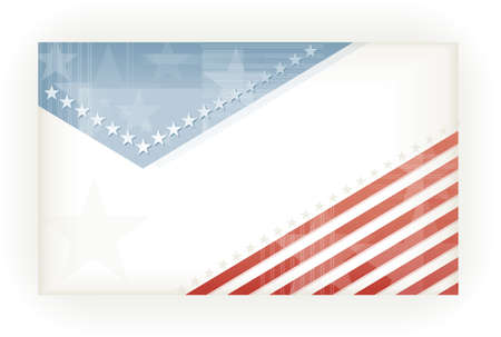 US American flag themed background, business, or gift card using pale blues and reds  Space for your text, Vector