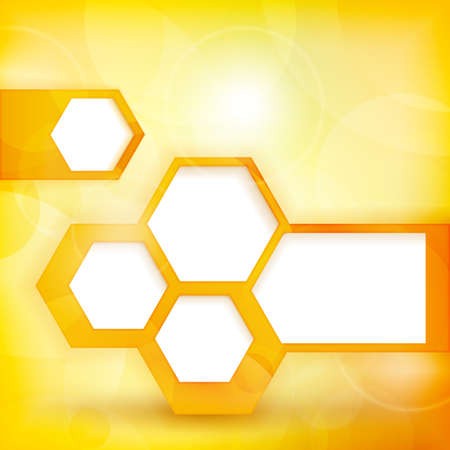 personalized: Abstract background with defocused light dots in shades of yellow and orange Illustration
