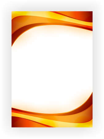 Abstract background with curved, wavy stripes in vibrant autumn colors Vector