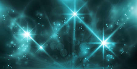 Blue light effects background for any magical event full of energy. Space for you message.  Illustration