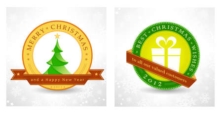 Set of 2 Christmas, New Year background designs for the coming festive season 2012, 2013  Vector