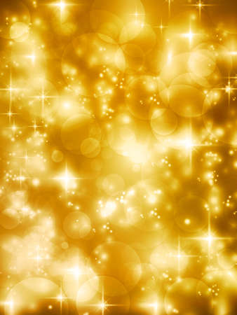 Abstract soft blurry background with bokeh lights, hightlights and stars in soft golden shades  The festive feeling makes it a great backdrop for many Christmas or other celebrations