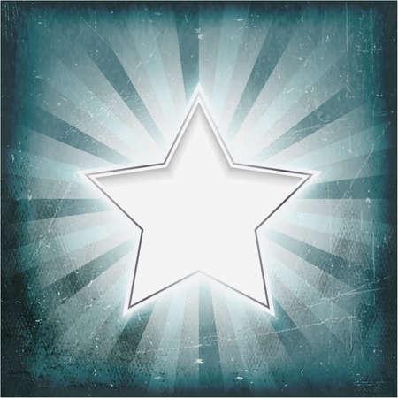 rimmed: Vintage luz invernal fondo de plata brillante con bordes rayos estrella central. Grunge elementos que dan una sensaci�n de textura y viejo como pergamino. Vectores