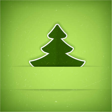 Christmas tree applique background. A slight texture gives it an aged paper feeling.Space for your text. Stock Vector - 15555068