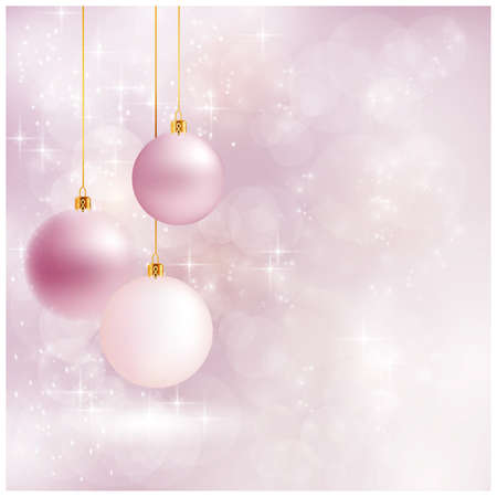 Abstract soft blurry background with baubles, bokeh lights, and stars. The festive feeling makes it a great backdrop for Christmas designs. Copyspace. Stock Vector - 15627293