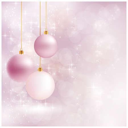 glint: Resumen de fondo borroso suave con adornos, luces bokeh y estrellas. El sentimiento festivo hace que sea un gran tel�n de fondo de los dise�os de Navidad. Copyspace. Vectores