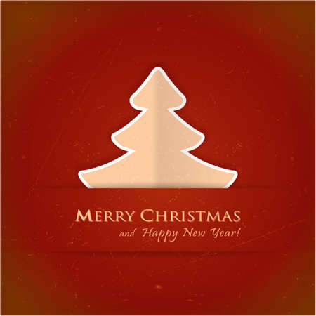 Christmas tree applique background. A slight texture gives it an aged paper feeling.Space for your text. Stock Vector - 15809683