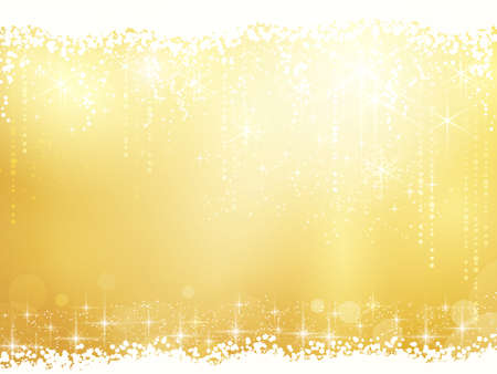 Golden background for Christmas and other festive occasions. Sparkling stars give it a magical feeling for the festive season to come. Vector