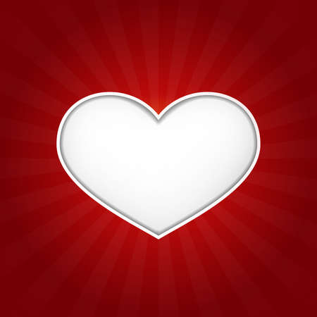 Romantic vector love heart with inner shadows on dark red background with a slight texture  Great for Valentine Vector