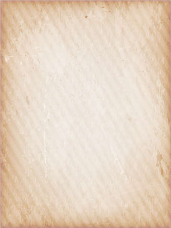 Light brown, beige grunge background faintly striped. Vector