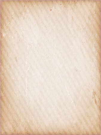 parchment texture: Marrone chiaro, beige grunge background strisce debolmente. Vettoriali