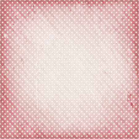 Abstract textured background with dotty pattern in desaturated red. Vector